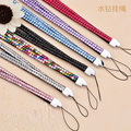 Multifunctional Rhinestone Crystal Bling Phone Straps Cell Phone Rope Badge ID Key Holder Lanyard