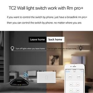 Image 2 - 2019 Broadlink TC2 US/AU version 1 2 3 Gang WiFi Home Automation Smart Remote Control Led Light Switche Touch Panel via RM Pro+