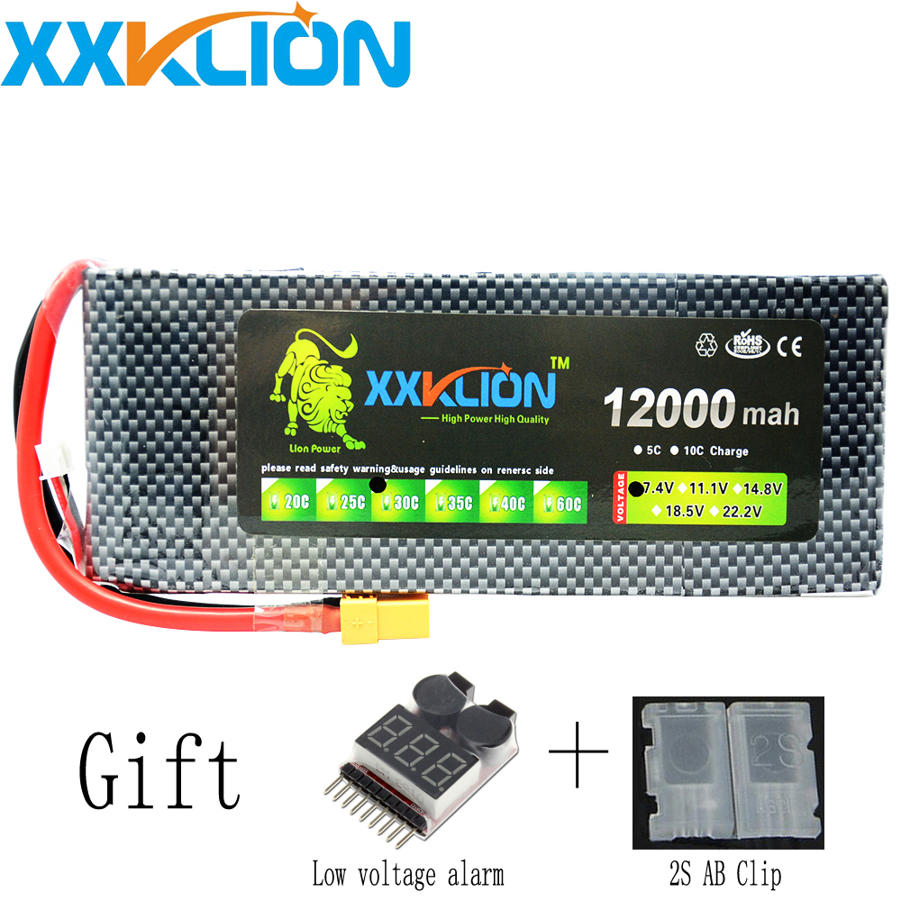XXKLION drone Lipo battery pack 7.4v 12000mAh 30C 2S for rc airplane Aerial multi - axis unmanned aerial vehicle Free Shipping free shipping hr sh5 rc airplane remote control plane aerial hd camera 6 axis gyroscope unmanned aerial vehicle uav drone toys