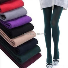 Fashion Slim Women Candy Color 80D Pantyhose Autumn Winter Spring Tights Cotton Velvet Fitness Sexy Stockings Cheap Wholesale