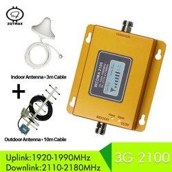 ZQTMAX 3G sieci komórkowej wzmacniacz WCDMA 2100 3G mobilny wzmacniacz sygnału 3G regenerator sygnału do MTS Beeline Vodafone ue assia afryki RU