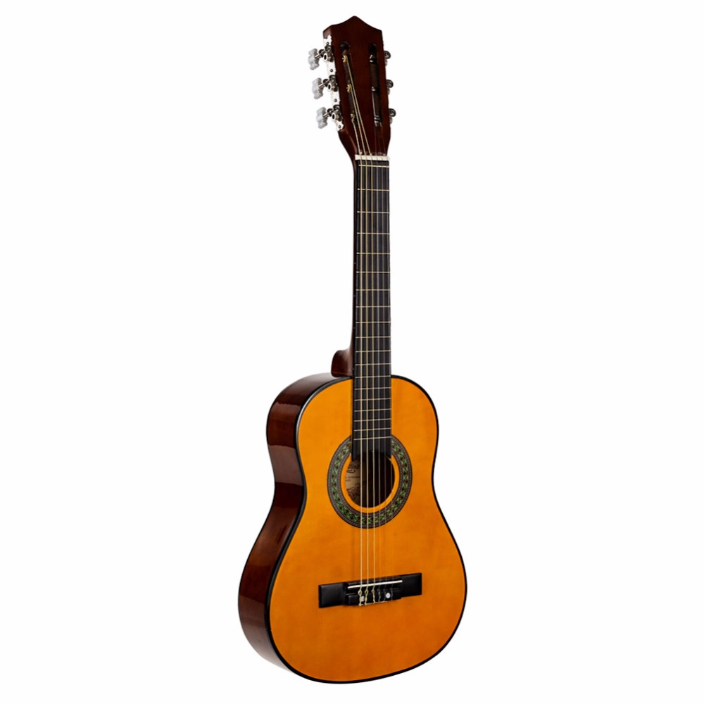 Strong Wind 30 Inch Classical Acoustic Guitar 6 Nylon Strings Basswood 1/4 Size Guitarra Beginner Unisex Gitaar Kids Full Kit alice ac139 classical guitar strings titanium nylon silver plated 85 15 bronze wound 028 0285 inch normal and hard tension