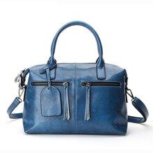 Женская сумка из натуральной кожи, сумки на плечо, женские сумки, модные бостонские большие сумки, женская сумка-мессенджер, Женская винтажная сумка на молнии