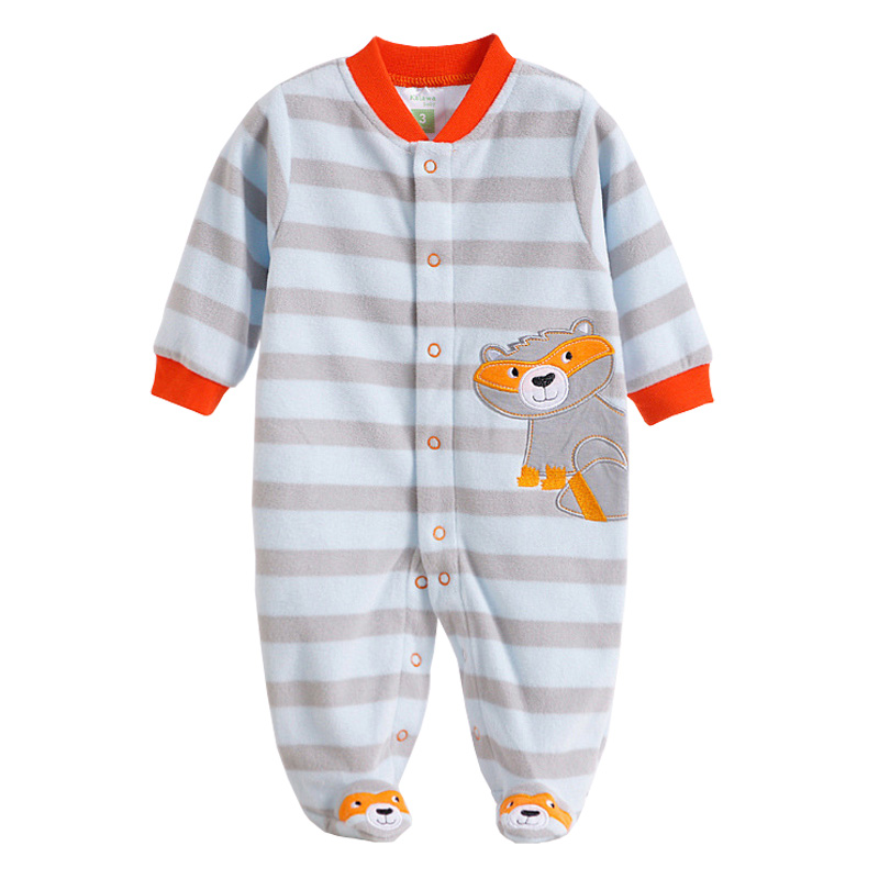 Newborn Baby Rompers Autumn Winter Package Feet Baby Clothes Polar Fleece Infant Overalls Baby Boy Girl Jumpsuits Clothing Set baby rompers long sleeve baby boy girl clothing jumpsuits children autumn clothing set newborn baby clothes cotton baby rompers
