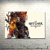 POPIGIST-The witcher 3 Wild Hunt Art Silk Fabric Poster Huge Print 13x20 24x36inch For Home Decoration 68