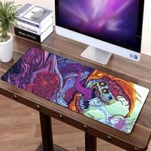 Large Gaming Mouse Pad Locking Edge CSGO Mice Keyboard Desk Protector Rubber Mat Gamer Anti-slip Mousepad XL For Dota 2 80x30cm 2 in 1 900 450mm double side large gaming mouse pad pu leather non slip mouse mat for dota 2 csgo office desk mousepad gamer