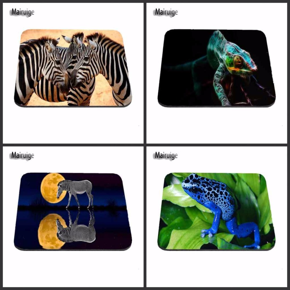 Zebra And Frog Cheap Luxury Print Gaming Mouse Pad Size 180X220X2MM 250X290X2MM And 25*20cm Lasting Computers Laptops Mouse Pad image