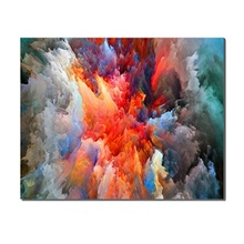 Abstract Colorful Heavily Clouded Creative Background Wall Frameless Canvas Oil Painting Poster Kids Room Unique GiftS For Decor
