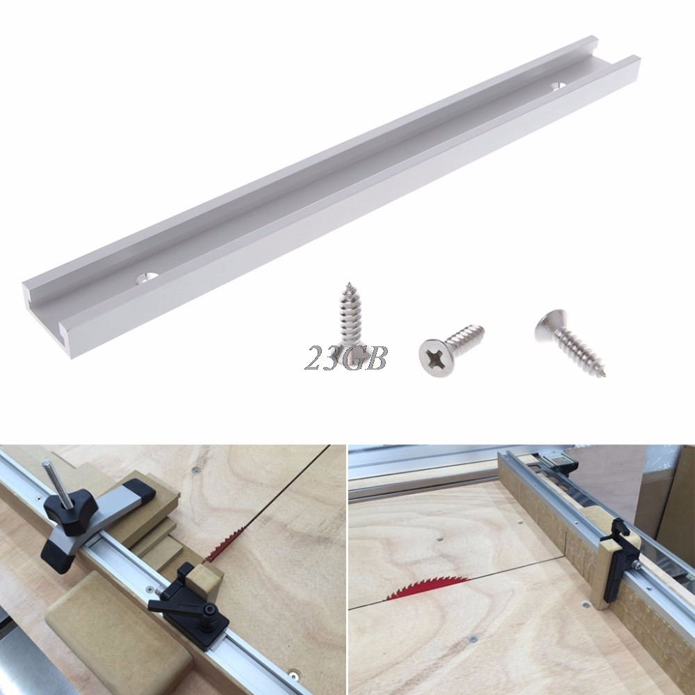 Aluminium Alloy T-track Woodworking T-slot Miter Track Jig Fixture Router Table M24
