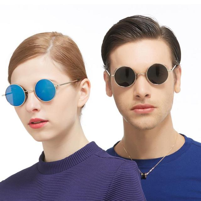 4c218c38db5 NEW Polarizing Small Vintage Retro Round Sunglasses Men Women Steampunk Sun  Glass Coating