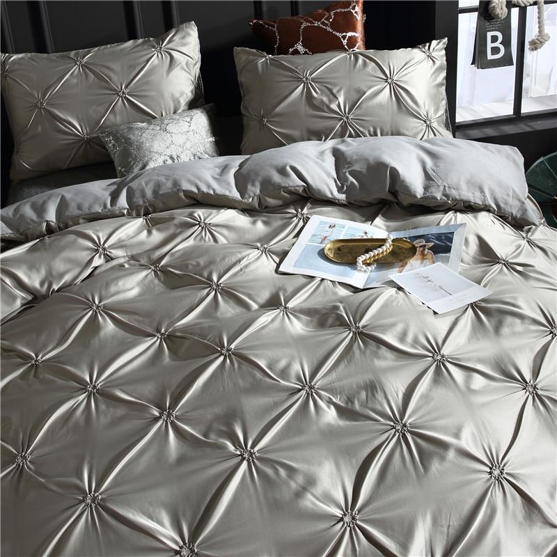 Image 2 - LOVINSUNSHINE Comforter Bedding Sets Double Duvet Cover Set King Size Luxury Silk Comforter Cover AC03#-in Bedding Sets from Home & Garden
