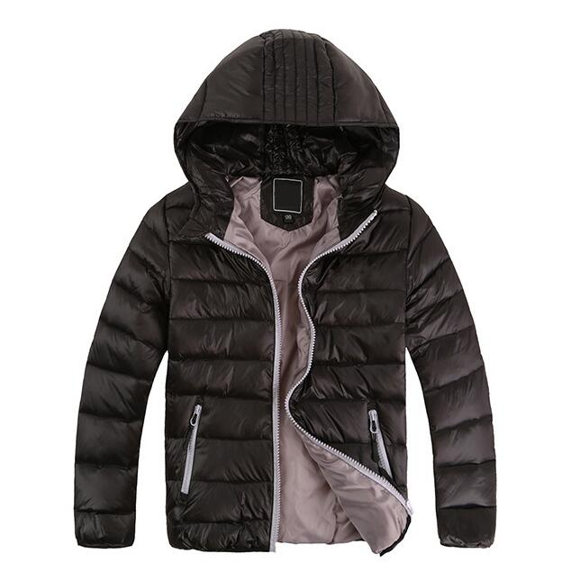 Children outwear boy and girl winter warm hooded coat children cotton padded clothes boy down jacket kids winter solid jackets