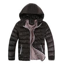 Crianças outwear inverno menino e uma menina quente casaco com capuz roupas de algodão acolchoado crianças jaqueta menino para baixo crianças inverno jaquetas sólidos