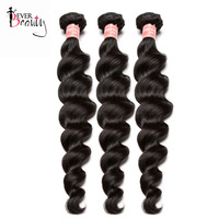 Loose Wave Brazilian Hair Weave Bundles Natural Black 10 28inches Remy Human Hair Extensions 3 Pieces Ever Beauty