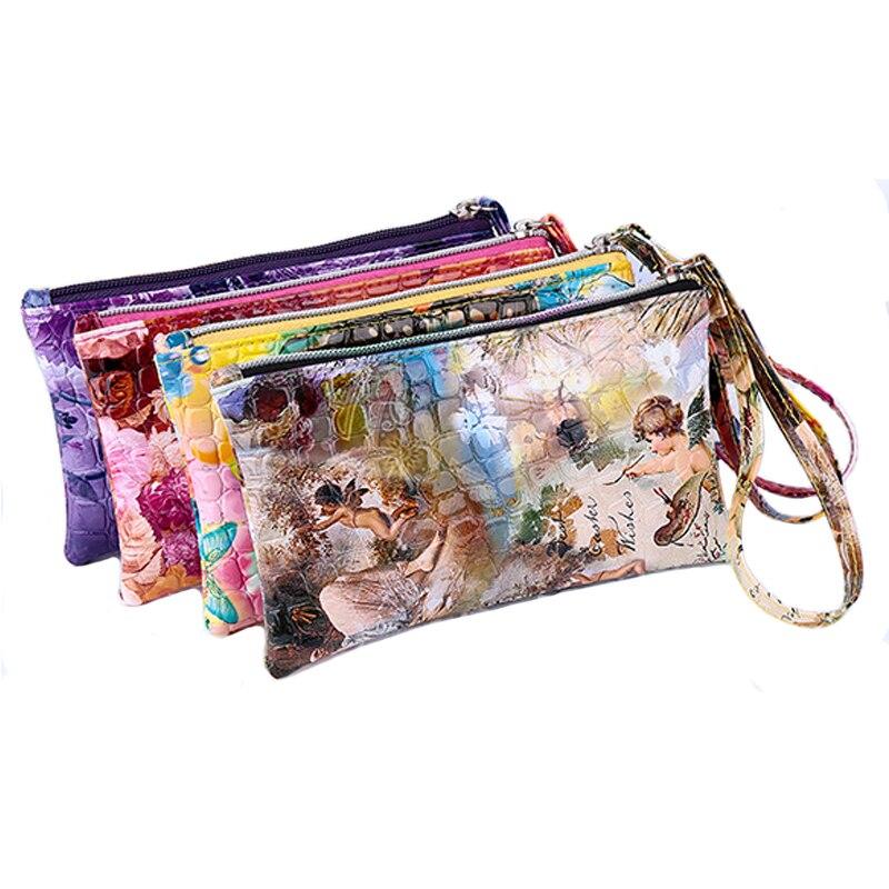 2016 Fashion Design Ladies Alligator Handbags Women Colorful Phone Bag Female Zipper Coin Purse