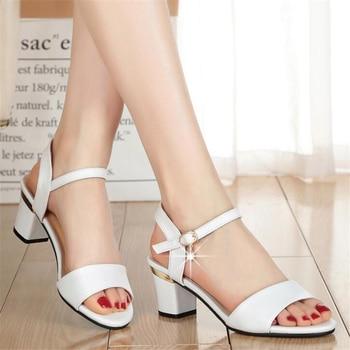 e909f9e9b0a Sandalias de mujer 2019 mujer niña Casual zapatos de tacón alto zapatos de  moda para mujer
