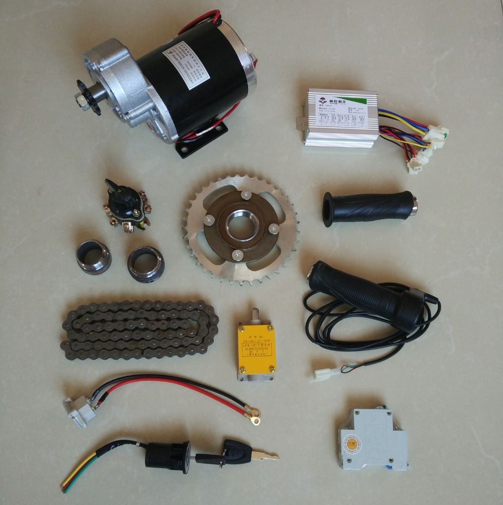 DC 36V 450W MY1020Z brush motor kit , electric bicycle kit ,Electric Trike, DIY E-Tricycle, E- Trishaw Kit 650w 36 v gear motor brush motor electric tricycle dc gear brushed motor electric bicycle motor my1122zxf