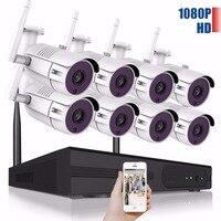 8CH Wireless CCTV System 1080P HD NVR Kit Outdoor IR Night IP Camera Wifi Camera Security