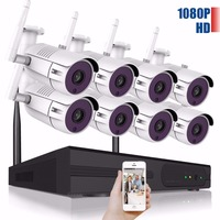 8CH Wireless CCTV System 1080P HD NVR Kit Outdoor IR Night IP Camera Wifi Camera Security