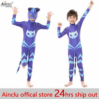 Ainclu 24 hrs Out Amaya Cosplay Costume Gekko Catboy Birthday Party Halloween Costumes With Mask/Tails For Kids Free shipping