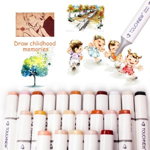 Image 2 - Artist Permanent Sketch Anime Skin Marker Pen Set for Skin Tone Pens TouchNew 24 Color Dual Tip Twin Alcohol Based Marker Set