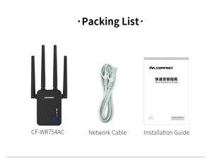 Image 5 - Double bande sans fil répéteur Wi Fi Extender 1200Mbps WIFI répéteur routeur Point daccès avec 4 antennes externes Comfast CF WR754