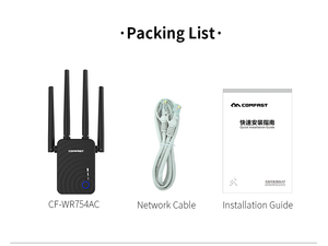 Image 5 - Dual Band Wireless Wi Fi Repeater Extender 1200Mbps WIFI Repeater Router Access Point With 4 External Antennas Comfast CF WR754