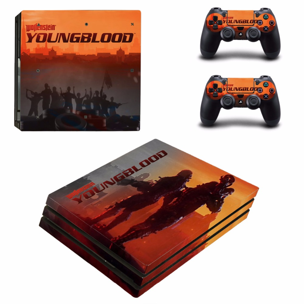 Wolfenstein Youngblood PS4 Pro Skin Sticker For Sony PlayStation 4 Console and Controllers PS4 Pro Skin Stickers Decal Vinyl