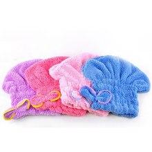 Ev tekstili yararlı kuru saç şapka mikrofiber saç türban hızla kuru saç Hat sarılı havlu banyo kap yeni