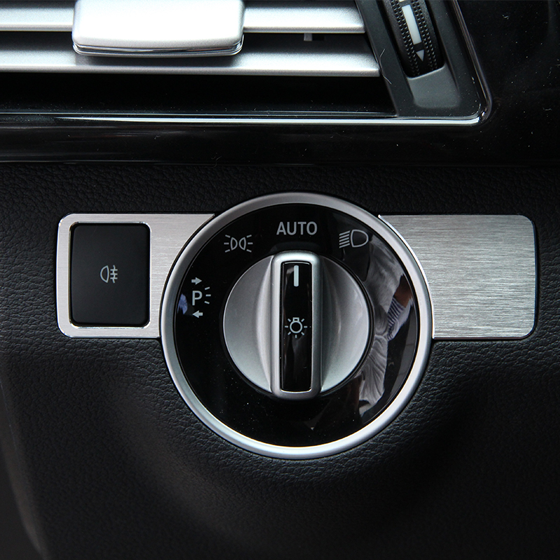 Headlight Button Cover Trim Car Sticker Mercedes Benz B C E GLK ML GL W176 W246 W204 W205 W212 X204 Accessories  -  Five---Stars store