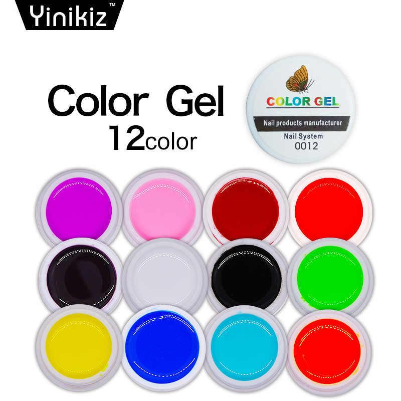 DIY קידום 8ml ציפורניים ג 'ל מכירה לוהטת 12 צבעים נייל אמנות לק פולני UV LED ג' ל פולני חצי קבוע ג 'ל לכה