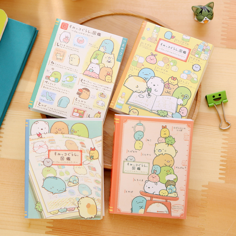 80Pcs/Pack Cartoon Corner Creature Sticky Post It N Times Memo Pad Notebook Student Sticky School Label Gift M0277