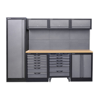 Combination Workstation Heavy Duty Workshop Mobile Anti static Dust Free Workbench Stainless Steel Fitter Console