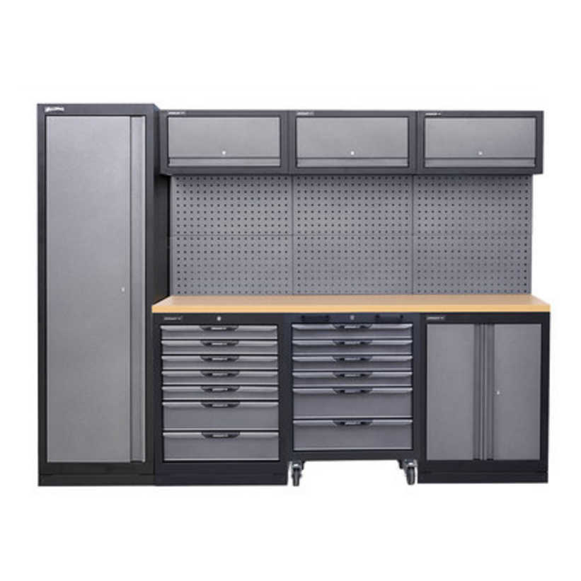 Poste de travail combiné robuste | Portable d'atelier, antistatique, sans poussière, banc de travail, Console d'installation en acier inoxydable