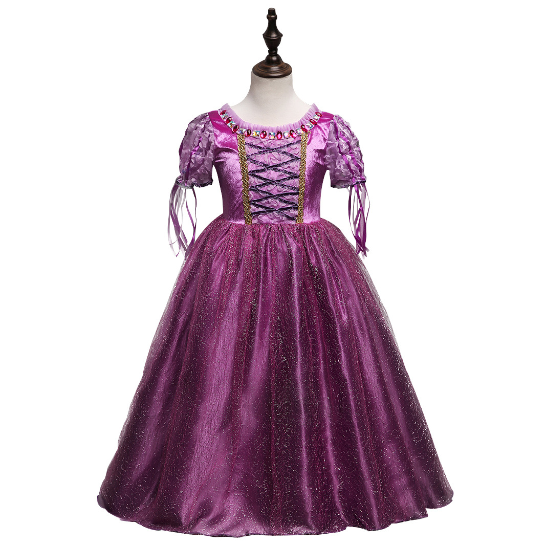 HTB1KeM2XkT2gK0jSZPcq6AKkpXaP Girls Dress Christmas Anna Elsa Cosplay Costume Dresses Girl Princess Elsa Dress for Birthday Party Children Kids Clothing