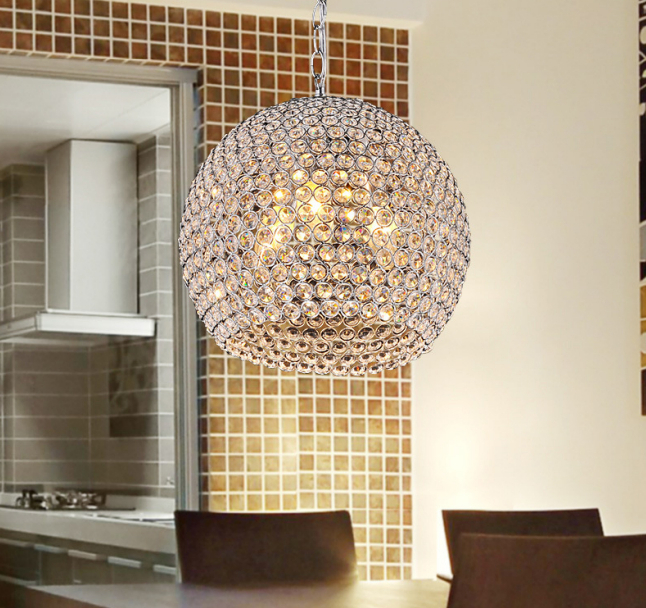 Modern Crystal Pendant Light Sconce K9 Crystal Lamp E14