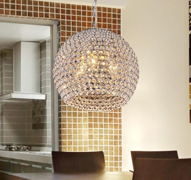 Modern Crystal pendant light Sconce K9 crystal lamp E14