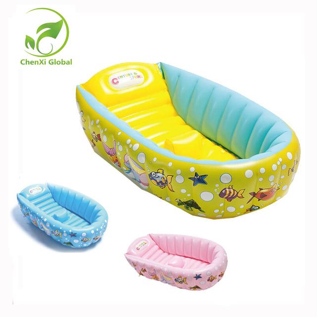 Novo Design Crianças Espessamento Banheira Bacia de Lavagem Dobrável Banheira Do Bebê Piscina Inflável Banheira Do Bebê Portátil