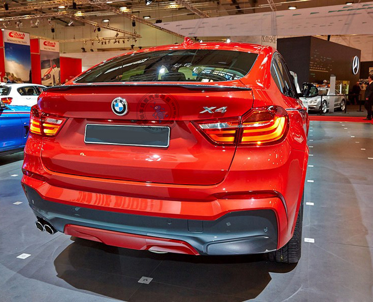 For BMW X4 2014 2015 2016 F26 Spoiler ABS Material Rear Roof Trunk Primer Color Xdrive25i Xdrive28i Xdrive20i In Spoilers Wings From