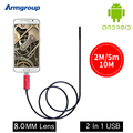 Cámara endoscópica 8mm USB Endoscopio Android HD Endosckop Endoscoop10m Mini Cámara Impermeable Boroscopio Serpiente Cámara A Prueba de agua