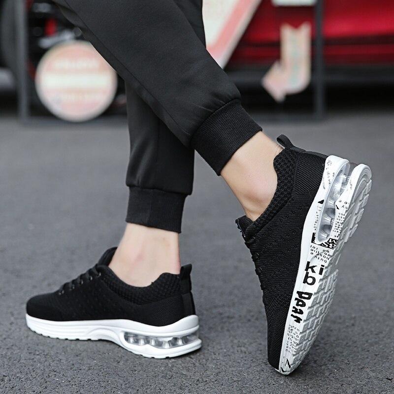 Hombres Black Casual Deportiva Malla Golden Antideslizante Transpirable White black De gris Zapatillas Zapatos Moda Encaje Hombre Primavera Otoño 4rgw4