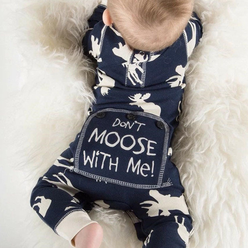 Baby Romper Deer Cartoon Long Sleeve Jumpsuit For Boy Girl Baby Clothes 2017 Autumn Cute Reindeer Newborn Rompers Christmas Gift newborn baby rompers baby clothing 100% cotton infant jumpsuit ropa bebe long sleeve girl boys rompers costumes baby romper
