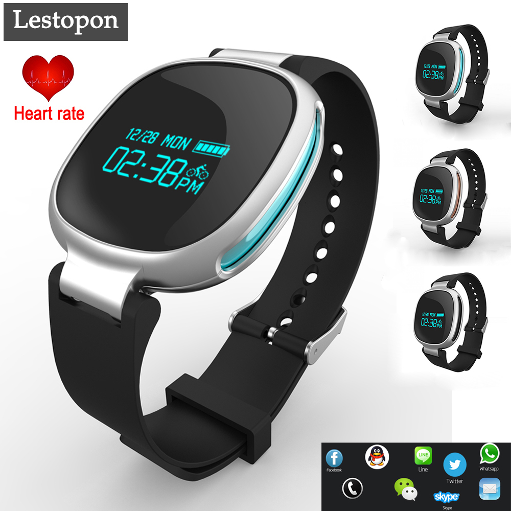 Lestopon Bluetooth 4 0 Heart Rate Smart Wristband Smartband Bracelet Tracker Fitness For IOS Android Waterproof