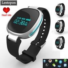 Lestopon Bluetooth 4.0 Чсс Умный Браслет Smartband Браслет Tracker Фитнес Для IOS Android Водонепроницаемый Браслеты