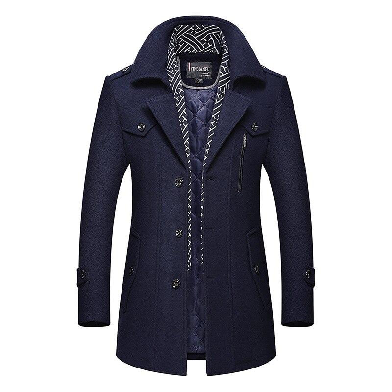 Image 2 - BOLUBAO, мужское зимнее шерстяное пальто, мужская мода, отложной воротник, теплая Толстая шерстяная смесь, шерстяное бушлат, мужской Тренч, пальто-in Шерсть и сочетания from Мужская одежда