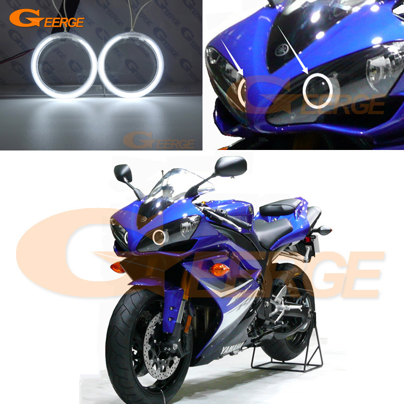 For Yamaha R1 YZF-R1 2004 2005 2006 2007 2008 Excellent Ultra Bright Illumination CCFL Angel Eyes Kit Halo Ring