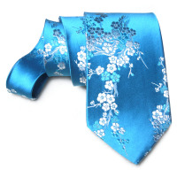 Classic Jacquard Cherry blossoms Neckties Luxury High Quality Mens standard Chinese style Natural Real Silk Brocade Ties Gifts