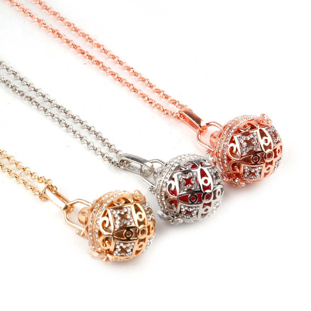 DIY Cages Hollow Ball Alloy Charms Beads Pendants Necklace Jewelry Making h
