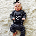 New 2017 Autumn baby boy girl clothes Unisex Long sleeve little monsters baby Romper Newborn toddler baby girls boys clothing