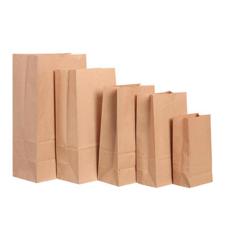 Kraft Paper Snack Bags Food Lunch Bread